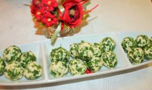Сырные шарики с зеленью